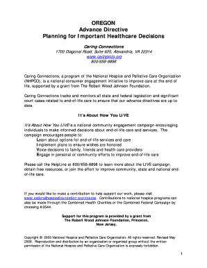 Bill Of Sale Form Oregon Advance Directive Form Templates ...