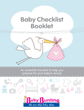 Baby Checklist Booklet - Baby Bunting