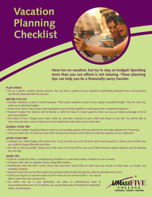 View the Vacation Planning Checklist here