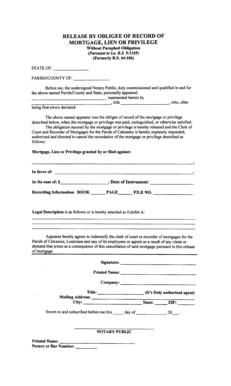 23 Printable mortgage release letter Forms and Templates - Fillable