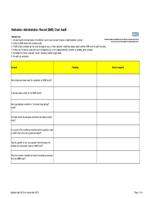 medication administration chart online form