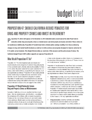 Proposition 47 - California Budget Project