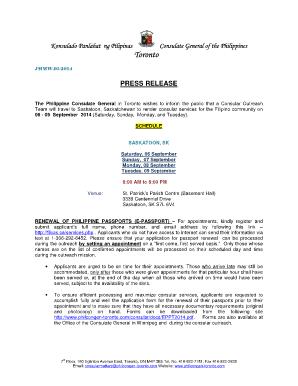 Fillable Online Epassport application form - Philippine Embassy in ...