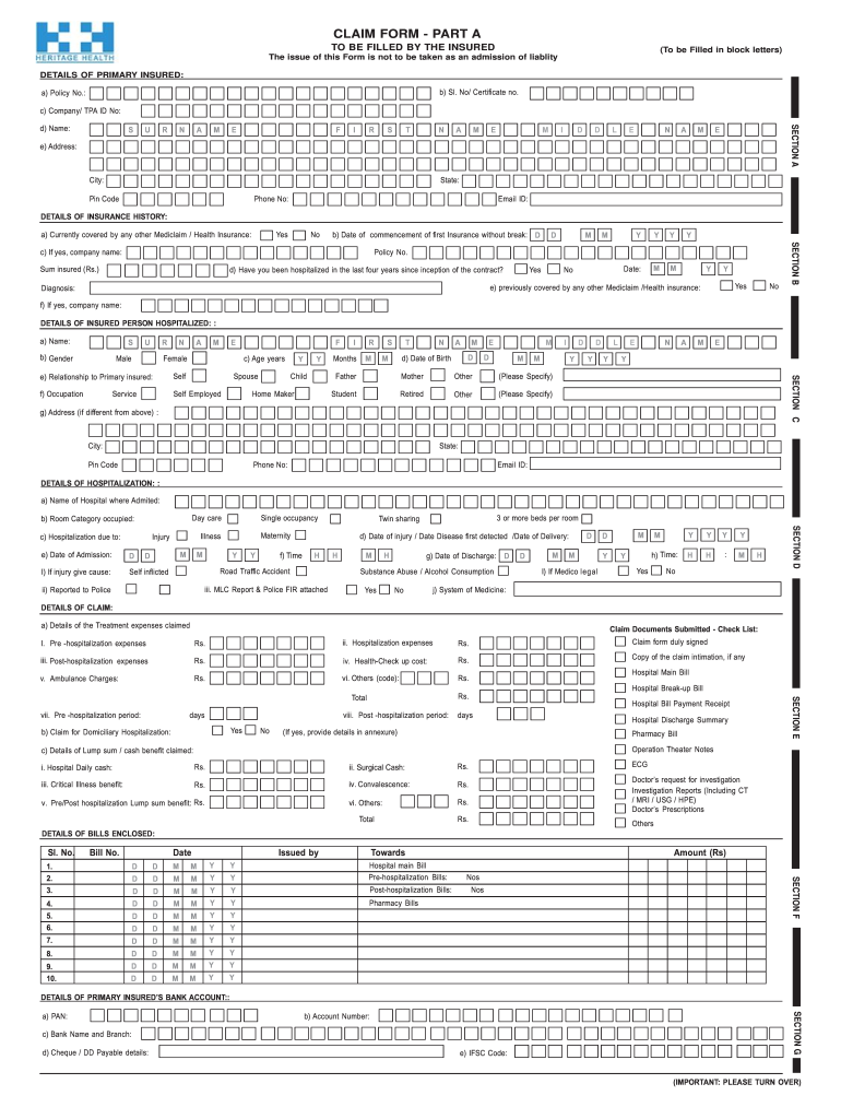 Heritage Health Tpa Fill Online Printable Fillable Blank