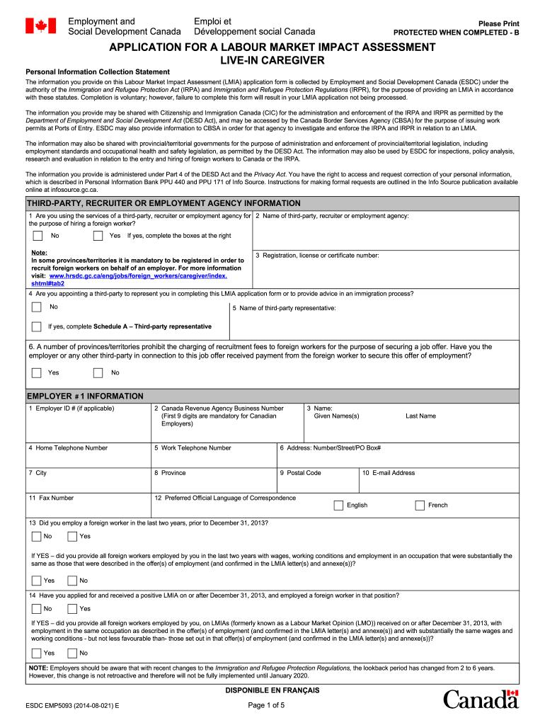 Lmia - Fill Online, Printable, Fillable, Blank   PDFfiller