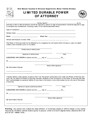 Durable Power Of Attorney New Mexico Form
