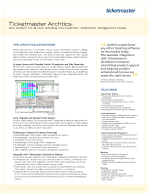 ticketmaster archtics Fillable Online Ticketmaster Archtics - Ticketmaster Client Center ...