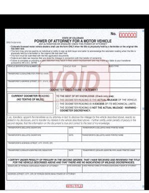 Bill of sale form colorado power of attorney for motor for Colorado motor vehicle bill of sale