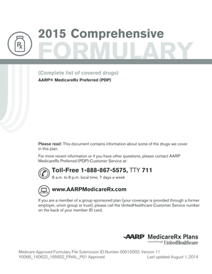 Fillable Online AARP MedicareRx Preferred
