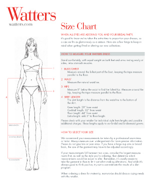 Size chart pdf.indd. Supporting information for an application for a student visa