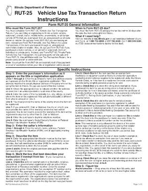 Fillable Online revenue state il RUT-25 Instructions - Illinois ...