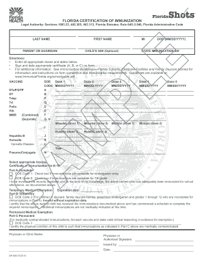 Florida Medical Exemption Vaccine Form - Fill Online, Printable ...