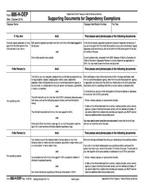 IRS 886-H-DEP form | PDFfiller