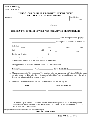 Bill Of Sale Form Letters Testamentary Will Templates   Fillable