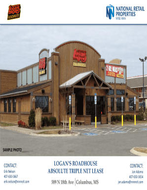 LOGAN'S ROADHOUSE ABSOLUTE TRIPLE NET LEASE