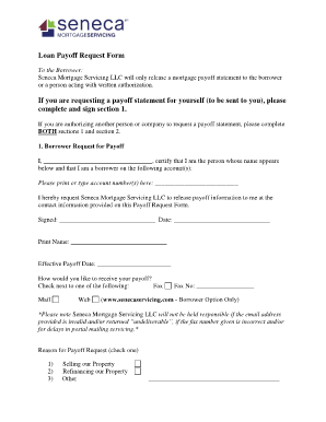 payoff statement form fill online printable fillable blank .