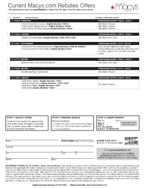 Macys Mail In Rebate Form