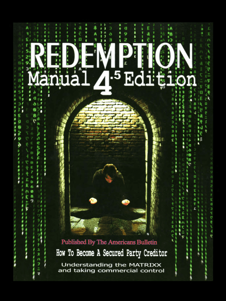 Redemption manual 4. 5 edition from government-imposed ignorance to.