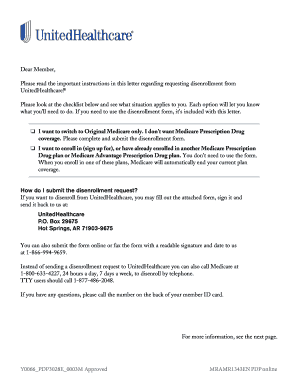 insurance disenrollment letter template  Disenroll From United Healthcare - Fill Online, Printable, Fillable ...