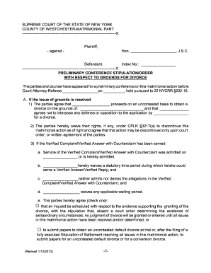 Verified Answer And Counterclaim Forms New York Divorce - Fill ...
