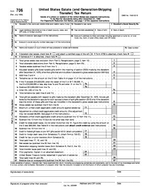 IRS 706 form | PDFfiller
