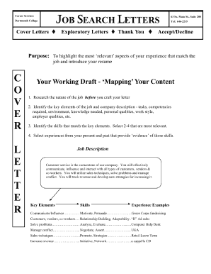 dartmouth cover letter pdf form