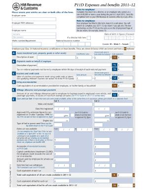 Fillable P11d - Fill Online, Printable, Fillable, Blank | PDFfiller