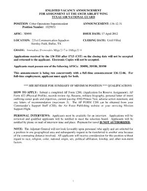 Af Form 422 Afi Fillable - Fill Online, Printable, Fillable, Blank ...