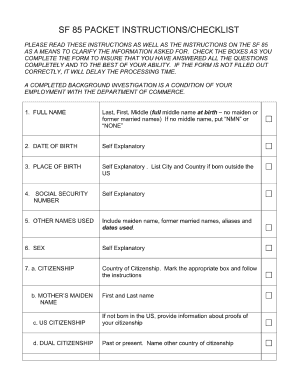 Noaa Sf 85 - Fill Online, Printable, Fillable, Blank | PDFfiller