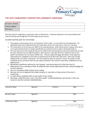 203k contractor bid form
