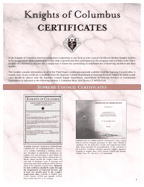 Knights of columbus certificate of appreciation template fill knights of columbus certificate of appreciation template yadclub Gallery