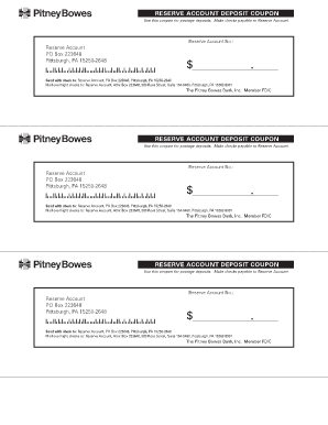 pitney bowes reserve account Pitney Bowes Reserve Account Deposit Slip - Fill Online, Printable ...