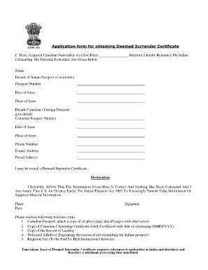Surrender Certificate Form - Fill Online, Printable, Fillable ...