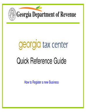 Quick Reference Guide - Department of Revenue