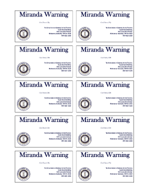 a report on miranda warnings Miranda warnings, which protect an individual's fifth amendment privilege  in  today's public schools, school officials are reporting more student activities to.