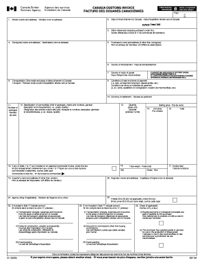 Canada Customs Invoice Forms And Templates Fillable Printable - Canada customs invoice template