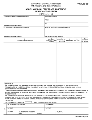 20142017 Form CBP 434 Fill Online Printable Fillable Blank