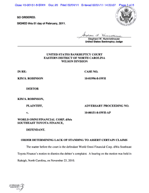 The Matter Before The Court Is The Defendant World Omni Financial Corp