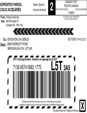 Expedited parcel Canada