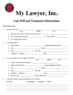 Last Will And Testament Template For Single Person Fill Print - Online last will and testament template