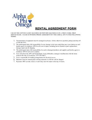 Fillable rental agreement form fill online printable fillable fillable rental agreement form platinumwayz