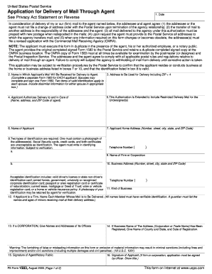 2004-2017 Form USPS PS 1583 Fill Online, Printable, Fillable ...