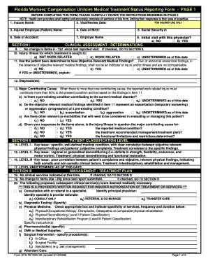Workers Compensation Form Templates - Fillable & Printable Samples ...