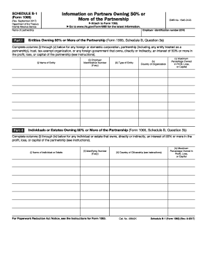 form 1065 instructions schedule b-1  Fillable Online irs Schedule B-8 (Form 8065)(Rev. September ...