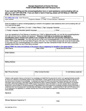 dhs medicaid application form georgia