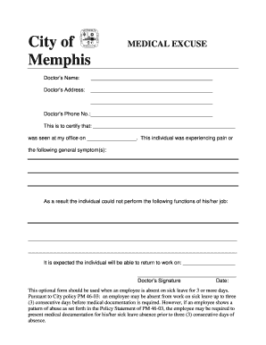 5 printable doctors excuse for work pdf forms and templates