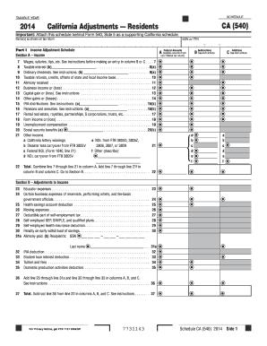 2016 Form CA FTB Schedule CA (540) Fill Online, Printable ...