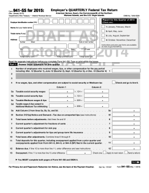 Fillable Online irs Form 941-SS (Rev. January 2015) Fax Email ...