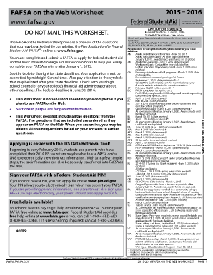 2015-2016 FAFSA on The Web Worksheet (pdf) - studentaid ed