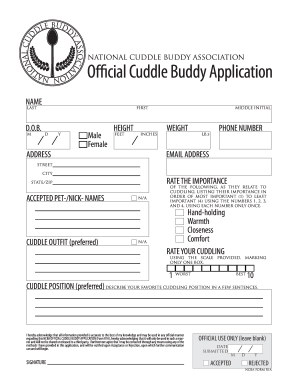 cuddle buddy applications  Fillable Online Download Cuddle Buddy Application PDF ...